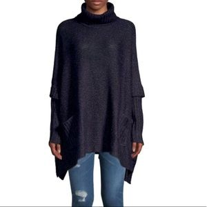 Design Lab Turtleneck Poncho with Pockets